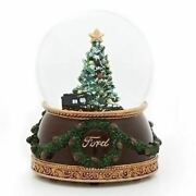 Roman Musical Glitter Dome With Ford 1926 Model T-truck And 1932 V-8 Car - 13094