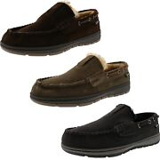 Clarks Menand039s Justin Moccasins Indoor/outdoor Winter Slippers