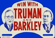 Magnet Presidential Campaign 1948 Candidates Truman And Barkley
