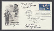 Chuck Older, Charlie Bond, Tex Hill, Flying Tiger Aces, Signed Air Force Fdc
