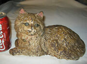 Antique Hubley 335 Fireplace Hearth Stove Cast Iron Cat Doorstop Statue Weight