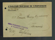 1939 Jewish History Of Tarnow Poland Cover Judaica City Council See Back