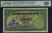 Free Giveaway 100 P Stamps Palestine Currency 1939 Andpound1 Pmg 30 Vf Pick 7c
