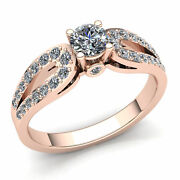 Real 3carat Round Cut Diamond Ladies Catch Me Solitaire Engagement Ring 14k Gold