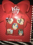 New Disneyand039s Mickeyand039s Very Merry Christmas Party 2015 Le 1000 5 Pins Box Set