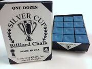 Quality Usa Silver Cup Pool Snooker Billiard Cue Tip Table Chalk Blue