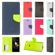 Zte Blade Z Max Leather 2 Tone Wallet Case Pouch Flip Cover + Glass Screen Guard
