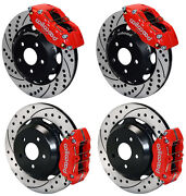 Wilwood Disc Brake Kit,front And Rear,subaru Impreza,forester,saab 9-2x,12,red,dr