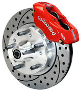 Wilwood Disc Brake Kitfrontfor Wwe Prospindle11 Drilled Rotorsred Calipers