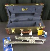 Bach Stradivarius 180s43 Bb Trumpet, Silver, Mint W/h Tags And Box Ptr13