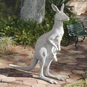 Life Size Kangaroo Joey In Pouch Aussie Outback Wildlife Sculpture 66 H.
