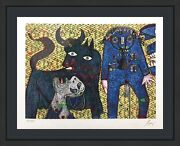 Enrico Baj Guernica 1972 | Signed Mixed Media With Felt/glitter | Others Avail