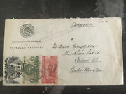 1937 Mexico To Czechooslovakia Airmail Cover Pemex Oil