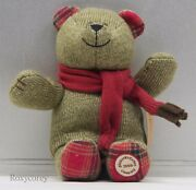 Starbucks 88th Bearista 2009 Bear Christmas Holiday With Red Scarf Nwt