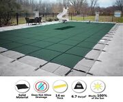 Gli Hyperlite Rectangle Solid Swimming Pool Safety Cover W/ Drain Choose Color