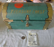 1950's Red Ball Footwear Treasure Chest Premium With Pirate Coin