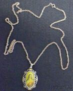 19th Century Gold And Sterling Medal St. Therese Hand Painted Miniature W Ag Chain