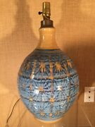 Danish Modern Stoneware Studio Pottery Lamp Wishon Harrell David Cressey Era 60s
