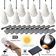 10x 20w Portable Solar Powered Led Rechargeable Bulb Light Outdoor Camping Lamp