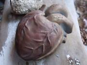 COOL Vintage Studio Arts Pottery Box HEART Shaped Signed R Shipman 1998