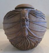 STEVE PATT VINTAGE STUDIO ART POTTERY SURREALISM ROOTED ABSTRACT POT SCULPTURE