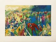 Leroy Neiman Paddock At Chantilly 1992 | Horse Racing | Signed Large Serigraph