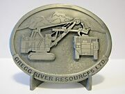 Pandh 2800 Mining Shovel Belt Buckle 1994 Gregg River Resources Record Year 33/450