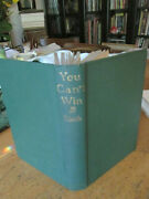 Jack Black You Can't Win Signed And Inscribed By Jack Vintage Book