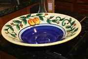Huge Gail Pittman hand signed 2001 Valley large Handpainted Bowl Fruit Grapes