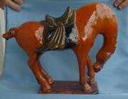 Beautiful Vintage Large Ceramic Tang Horse - 10 1/2 Tall And 13 Wide