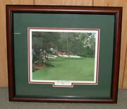 Framed - 13th At Augusta Golf Print Masters = 16 X 18 Overall Size Giclee