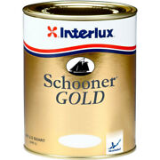 Interlux Yva500 Schooner Gold Varnish Spar Wood Teak Boat Quart Yva500qt