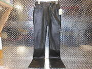 Wilsonand039s Womenand039s Ladies Size 6 Black Leather Motorcycle Riding Pants New W/ Tag