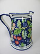 hand painted ITALIAN POTTERY PITCHER (ITALY) - mint