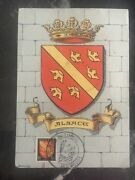 1947 Mulhouse France Picture Postcard Cover Coats Of Arms Of Alsace First Day Ca