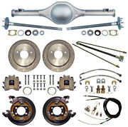 Currie 55-59 Chevy 5-lug Truck Rear End And Drilled Disc Brakes,lines,cables,axles