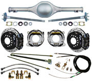 Currie 55-59 Chevy 5-lug Truck Dropped Rear End And Wilwood Drilled Disc Brakes,bk