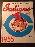 Cleveland Indians 1955 Official Mlb Yearbook