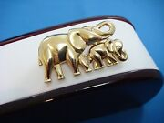 18k Yellow Gold 17.6 Grams Vintage Mama Elephant With Baby Elephant Brooch