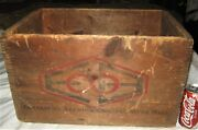 Antique Enterprise Lager Beer Brewing Co. Ma Usa Wood Bottle Sign Art Box Crate