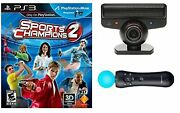 Sports Champions 2 Move Starter Bundle For Playstation Ps3 Very Good 8z