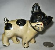Antique Hubley Usa Cast Iron Boston Terrier Dog Childs Room Statue Toy Doorstop