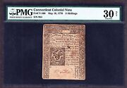 Us 5s Connecticut Colonial Currency 05/10/1770 Fr Ct160 Pmg 30 Vf Net
