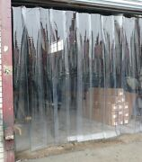 Garage Door Strip Curtain 8 Perforated Strips 9 Ft X 7 Ft
