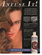 Infusium 23 Hair Treatment Original Full Page Print Ad Glamour March 1993