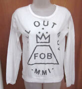 Fall Out Boy Longsleeves T Shirt Juniors Lrg Fob Punk 2013 Tee Save Rock And Roll