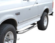 New Pair 3inch Stainless Side Step Bars Fit 80-96 Bronco/f-series Reg Cab