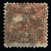 Genuine Scott 113 Used 1869 2andcent Brown Clear Well Defined G-grill - Estate Sale
