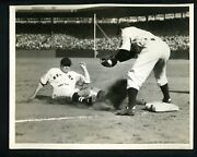 Joe Cronin And Red Rolfe 1938 Type 1 Press Photo Fenway Park Red Sox Yankees