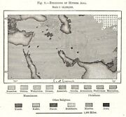 Religions Of Hither Asia. Middle East. Sketch Map 1885 Old Antique Chart